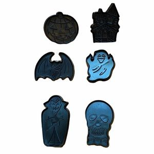 Assorted Halloween Black Cookie Cutters 6-count